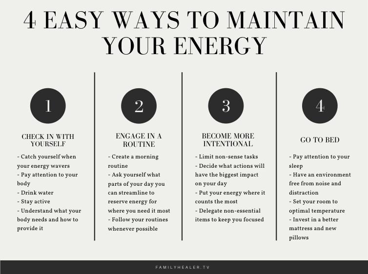 4 Easy Ways to Maintain Energy